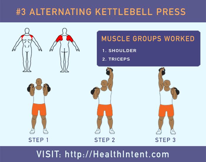 Alternating Kettlebell Press