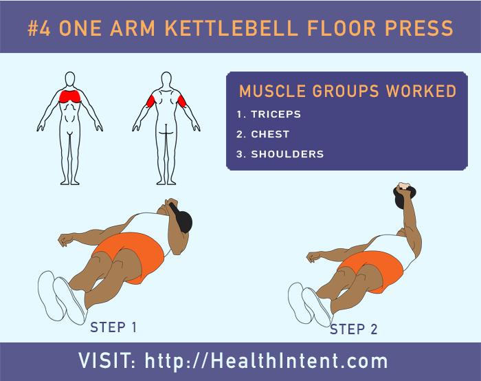 One Arm Kettlebell Press