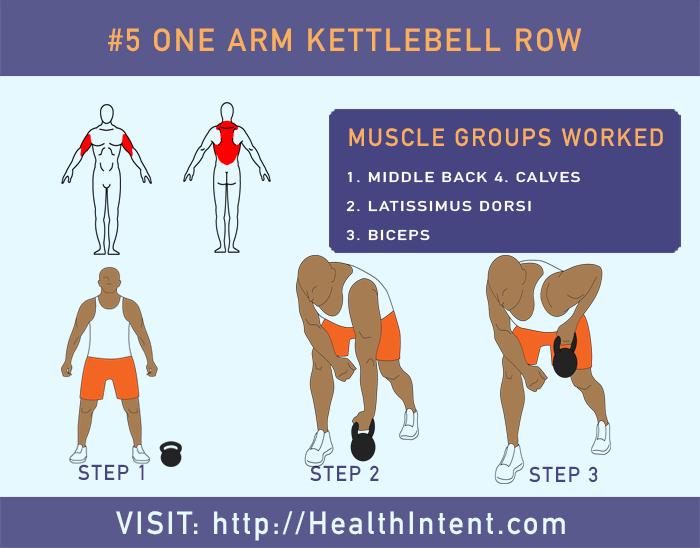 One Arm Kettlebell Row