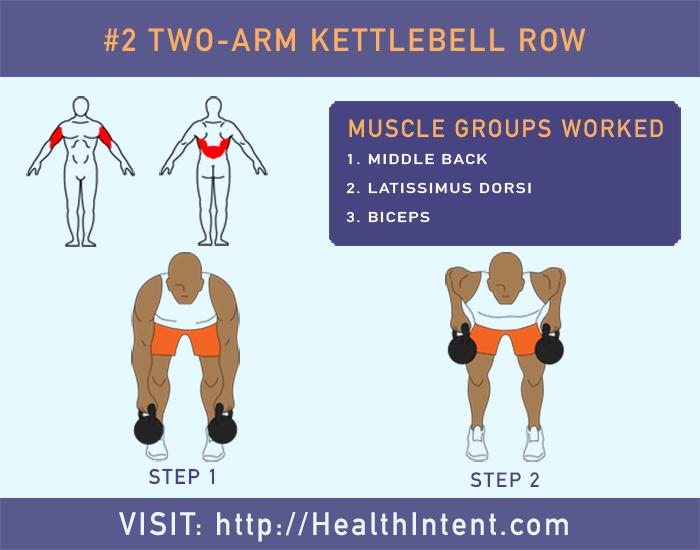 Two Arm Kettlebell Row